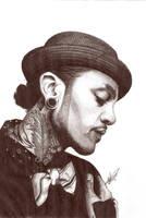 Travie Mccoy Biro portrait by Craig-Stannard