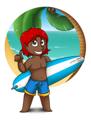 Summer Chibies 2015 - Adam by Raygirl13