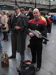 Sherlock Holmes and a Starfleet Officer by ZeroKing2015