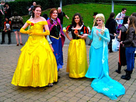Belle, Anna, Snow White and Elsa by ZeroKing2015