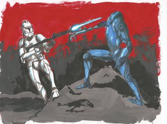 Clone Trooper battle by SkirmisherLex23