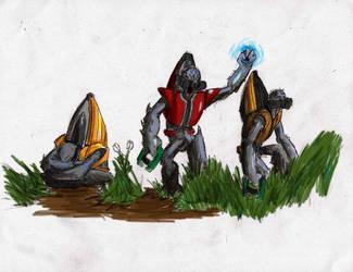 Halo Grunts by SkirmisherLex23