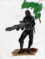 Futuristic Warrior by SkirmisherLex23