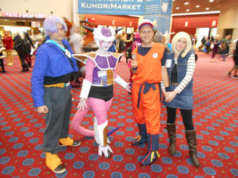 Trunks, Freeza, Krillin, and Android 18 by Jagarnot