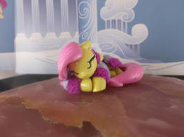 Sleeping Fluttershy (front view) by DeadHeartMare