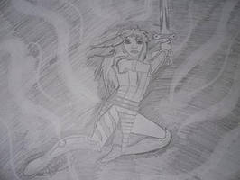 warrior by thedarkmonkey