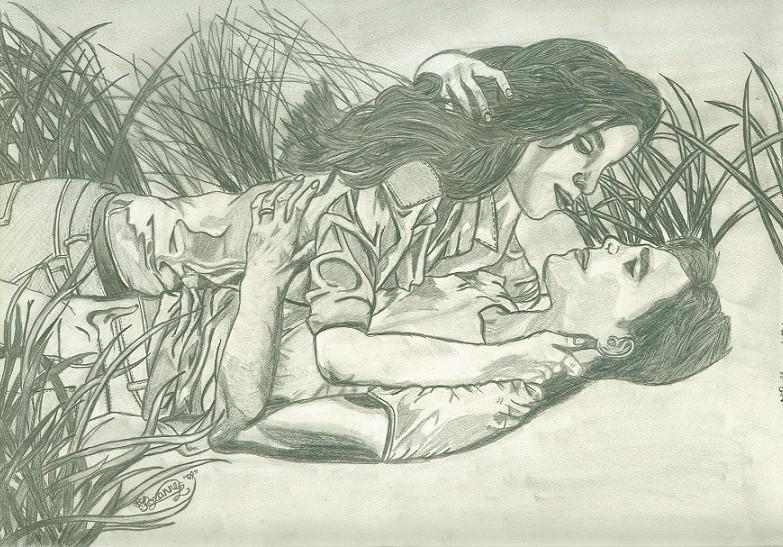 Bella and Edward by thedarkmonkey