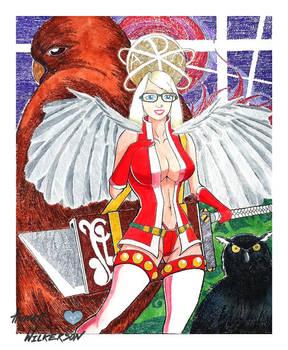 Angel-Warrior Tabitha G. by DarkPrinceArmon