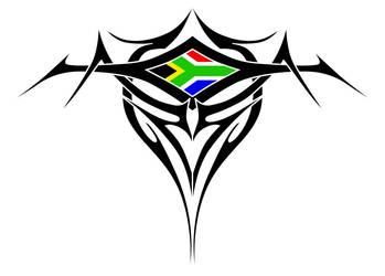 Tribal Flag Tattoo by ic-art