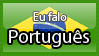Eu falo portugues stamp by CuteCatLovers