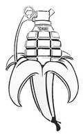 BananaBomb Stencil by SemQuerer