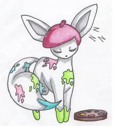 [For SnowTiffany123] Facilieon [Art-Type Eevee] by BlackYinWhiteYang