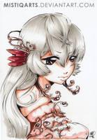Manga girl - Ebony spirit by Mistiqarts
