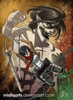 Shingeki no Kyojin: Attack on titan by Mistiqarts