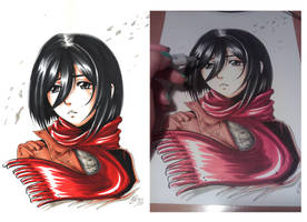 Mikasa Ackerman - Shingeki no Kyojin by Mistiqarts