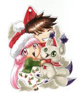 Christmas Chibi ornament FREE DOWNLOAD by Mistiqarts