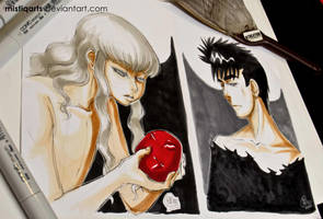 Guts and Griffith by Mistiqarts