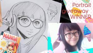 Manga Portrait Giveaway winner by Mistiqarts