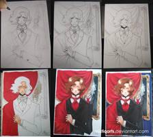 Dorian Gray Process steps by Mistiqarts
