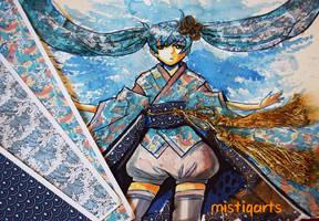 Hatsune Miku Collage by Mistiqarts