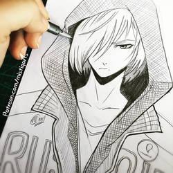 Yurio Sketch  by Mistiqarts