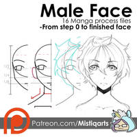How to draw Male face FREE VIDEO+ work files by Mistiqarts