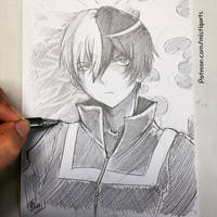 Todoroki Sketch by Mistiqarts