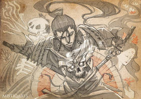 Gothic Samurai Sketch by Mistiqarts