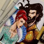 Aquaman and Mera Copic Art by Mistiqarts