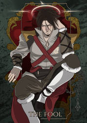 Trevor Belmont Tarot: The fool by Mistiqarts