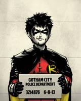 Gotham Mugshot- Robin by Joe-Sketch
