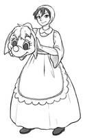 Ced as Cinderella's mousy friend Suzy or Perla by YukiCos