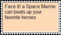 Space Marine Stamp by masonicon
