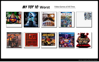 My Top 10 Worst Games Of All Time by masonicon