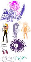 Adventure Time doodles2 by ShwigityShwonShwei