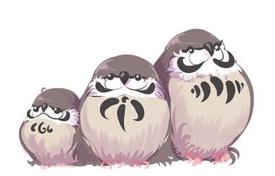 Three Little Sparrows by ShwigityShwonShwei