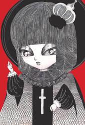 Evil little girl by saintelle