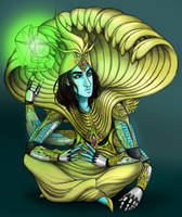 Vishnu, Architect of Heaven by squonkhunter