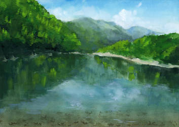 Graduation art work 02 river by Misatod