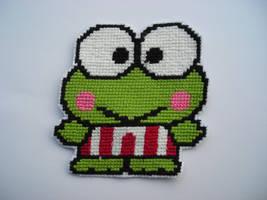 Keroppi Cross stitch by natyna82