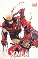 Wolvie vs Deadpool by lazeedog