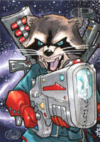 Rocket Raccoon by lazeedog