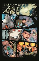 Upstarts #1 page 4 colored. by lazeedog