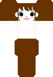 Rina Cube Papercraft by cutiepatooti