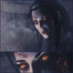 Commission : Azula with red eyes by Dolmheon