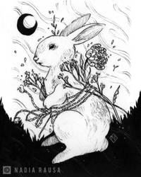 Nocturn Rabbit by nadia-rausa