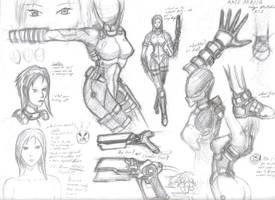 Akie Akadia Sketches No.1 by Vladimiravich