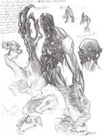 Tech Zombie Concept Sketch 01 by Vladimiravich