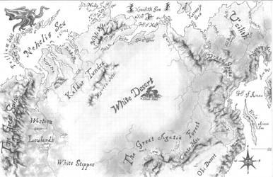 White Desert Map by Vladimiravich