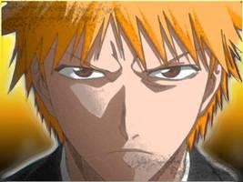 Ichigo full stare by macmasterkay